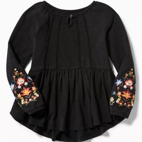 Fit & Flare Puff-Print Tunic for Toddler Girls|old-navy