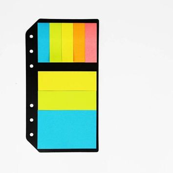 B5 A5 A6 Planner Accessory Colored Post-it N 6 Holes Binder Sticky Notes