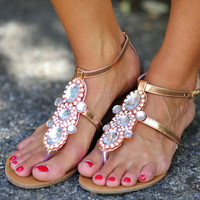 Fit For A Queen Sandals: Rose Gold | Hope's