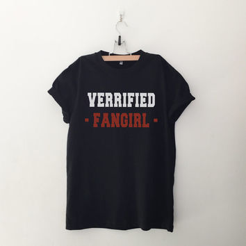 Verified fangirl shirt tshirts casual outfit for teens womens summer fall spring winter outfit ideas dates school tumblr teen fashion