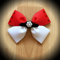 Pokemon Go Pokeball Inspired Red and White Hair Bow