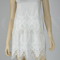 White Lace Tiered Sundress