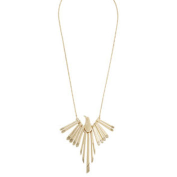 Tropicalia Bird Necklace in Gold/Black - BCBGeneration