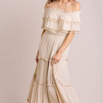 Maddie Off the Shoulder Maxi Dress