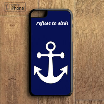 White anchor on 1 text word quote Phone Case For iPhone 6 Plus For iPhone 6 For iPhone 5/5S For iPhone 4/4S For iPhone 5C iPhone X 8 8 Plus