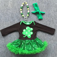 Shamrock Boutique  Onesuit With Sequin Tutu