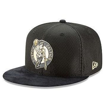 Boston Celtics New Era 59FIFTY Official On Court Cap Hat Fitted 5950 Black/Gold