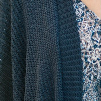 Knit Cardigan Blue