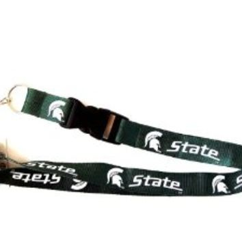 Michigan State Spartans Lanyard Detachable Key Chain
