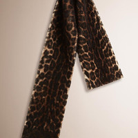 Animal Print Shearling Scarf