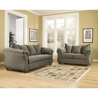 Signature Design by Ashley Darcy Living Room Set in Sage Fabric