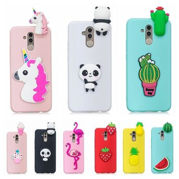 Etui Huawei Mate 20 Lite Case Cover 3D Toy Panda Cactus Silicone Phone Case on for Funda Huawei Mate 20 Lite Mate 10 Lite Case