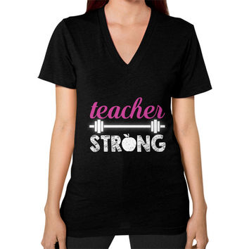 Teacher strong V-Neck (on woman)