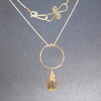 Necklace 002 - choice of stone - GOLD