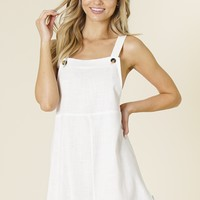Rhythm - Pinafore Dress | Ivory