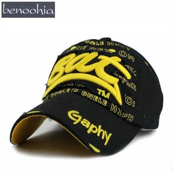 BBS017 New Men Washed Denim Snapback Fitted Caps Baseball Hats Women Ripped Embroidery Hiphop Caps Sun Bone Casquette Gorras