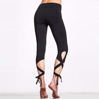 Ballet Yoga Pants (Black & Pink)
