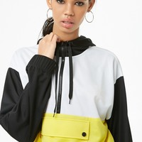 Colorblocked Toggle-Hem Anorak