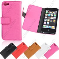 Protective Synthetic Leather Case Cover Shell for Apple iPhone 5 5S from UltraBarato Gadgets