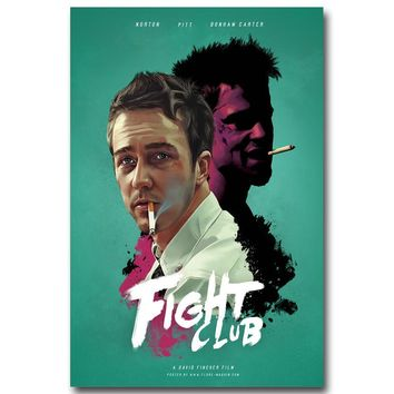 NICOLESHENTING Fight Club Movie Vintage Art Silk Poster 13x20 24x36 inches Wall Pictures for Living Room Decoration 002