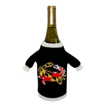 Maryland Full Flag Crab / Wine Bottle Sweater