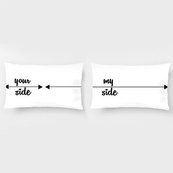 My Side Your Side Pillowcases Decorative Bedding Pillow Case For Wedding Pillow Set Anniversary Gift Couple Cushion Covers
