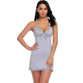 Cotton Nightgowns Plus Size Women Sexy Home Wear Nightdress Lace 872f443cc