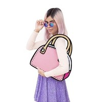 jeansian 3D Jump Style 2D Drawing From Cartoon Paper Comic Hand Bag WBH012