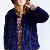 Cheap Monday Furious Faux-Fur Jacket - Blue