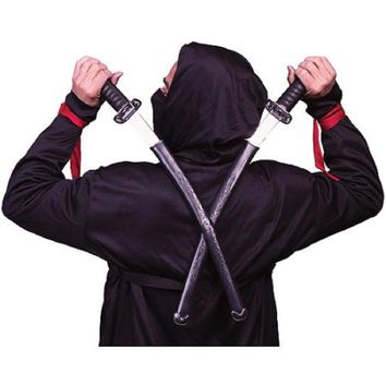 Double Ninja Sword Halloween Accessory