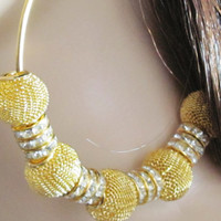 Basketball Wives Earrings Mesh Earrings Gold Hoop Earrings Beaded Hoop Earrings Rhinestone Hoops Women Jewelry Poparazzi Inspired Earrings