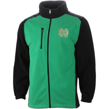 Notre Dame Fighting Irish Tactical Polar Fleece Full Zip Jacket – Kelly Green