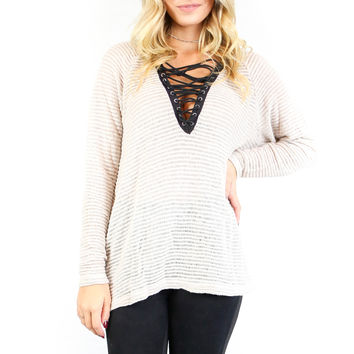 Rockefeller Plaza Taupe Top