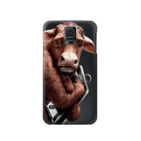 P1271 Crazy Cow Phone Case For Samsung Galaxy S5