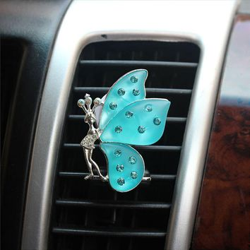 Vent Auto Perfume Butterfly Shape Decors Air Freshener