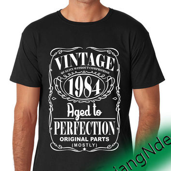 vintage 1984 aged to perfection T-shirt High Quality Design in Men's and Women's