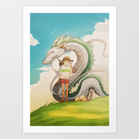 Spirited Away Art Print by Francesca B.