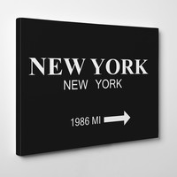 NY PRADA MARFA BLACK BACKGROUND Canvas Art By Michelle Parascandolo