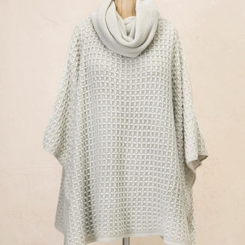 Look by M Cross Stitch Poncho in Grey MSF1315-GREY