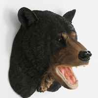 Black Bear Head Wall Sculpture