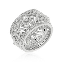 Filigree Crest Eternity Ring, size : 10