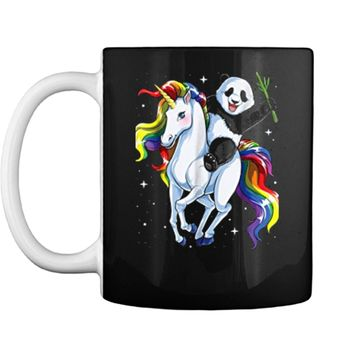 Panda  for Girls Riding Unicorn Pandicorn Women Gifts Mug