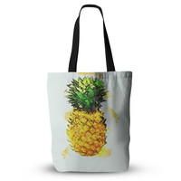"Oriana Cordero ""Slice of Summer"" White Yellow Everything Tote Bag"