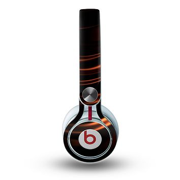 The Dark Orange Shadow Fabric Skin for the Beats by Dre Mixr Headphones