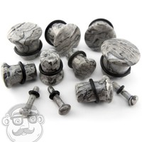 Wave Jasper Stone Single Flare Plugs