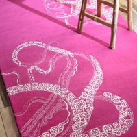 Rugs USA Sierra Octopus Tail Fuschia Rug