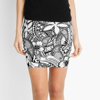 'It's Not Always Black Or White Polynesian Tattoos' Mini Skirt by sunnthreads