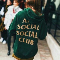 Tagre™ ANTI SOCIAL CLUB Fashion Casual Long Sleeve Top Sweater Pullover Hoodie