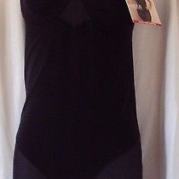 Miraclesuit extra firm control Black Bra Slip Size 36B Style 2780