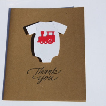 Baby Shower Thank You Cards, Train